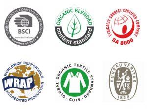Vogue Sourcing Certification-Garment factory certifications-BSCI-WRAP-GOTS-SA8000-ISO9000-SEDEX-OekoTex certified garment factory