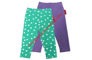 Printed baby girls leggings set