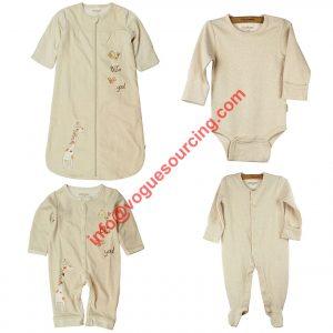 Beautiful Organic Baby Clothes Set