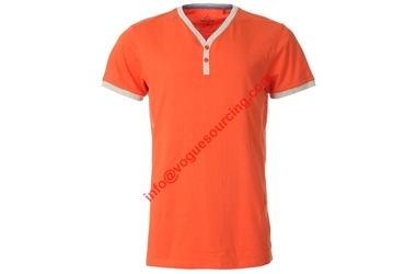 mens-y-neck-t-shirt-bright-orange-plain-vogue-sourcing-india