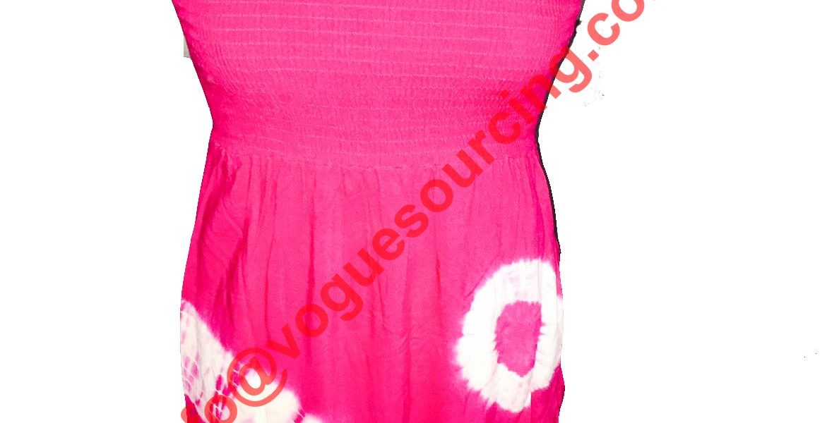 Rayon Tie Dye Smoke Cocktail Dress manufacturer, supplier, exporter in tirupur, india